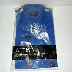 NWT Apt.9 Blue Collared Mens Long Sleeve Shirt